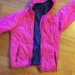 L.L. Bean girls hot pink jacket